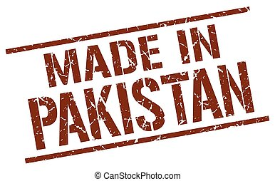 made in Pakistan stamp