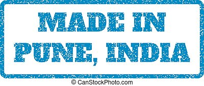 Made In Pune India Rubber Stamp - Blue rubber seal stamp...