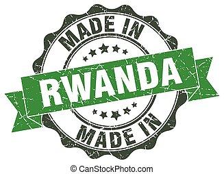 made in Rwanda round seal