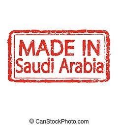 MADE IN SAUDI ARABIA Grunge rubber stamp