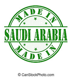 Made in Saudi Arabia stamp - Made in Saudi Arabia grunge...