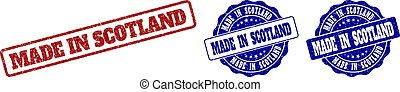 MADE IN SCOTLAND Scratched Stamp Seals