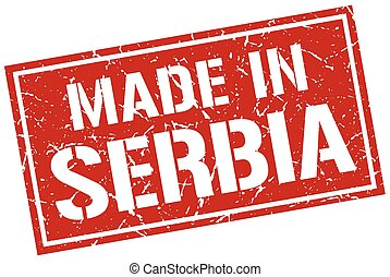 made in Serbia stamp