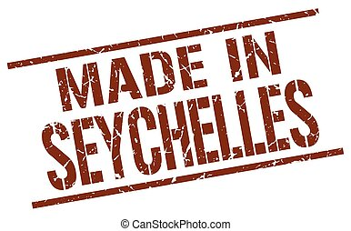 made in Seychelles stamp