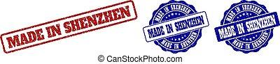 MADE IN SHENZHEN Grunge Stamp Seals