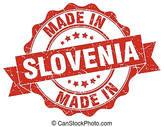 made in Slovenia round seal