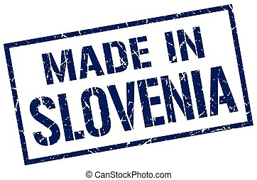 made in Slovenia stamp