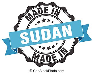 made in Sudan round seal