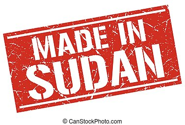 made in Sudan stamp
