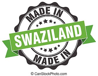 made in Swaziland round seal