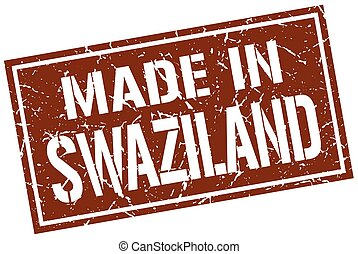 made in Swaziland stamp