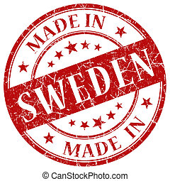Made In Sweden red stamp