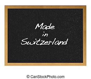 Made in Switzerland.