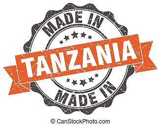 made in Tanzania round seal