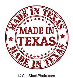 Made in Texas stamp - Made in Texas grunge rubber stamp,...