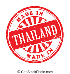 made in Thailand grunge rubber stamp - illustration of ...
