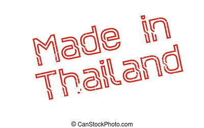 Made In Thailand rubber stamp. Grunge design with dust...