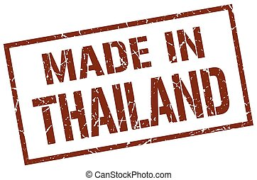 made in Thailand stamp