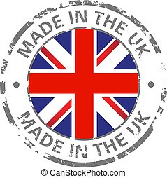 made in the uk flag grunge icon