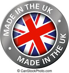 made in the uk flag metal icon