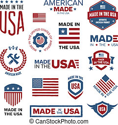 Made in the USA designs - Set of various Made in the USA...