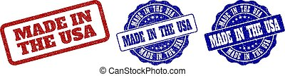 MADE IN THE USA Grunge Stamp Seals
