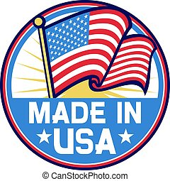 Made in the USA label vector illustration