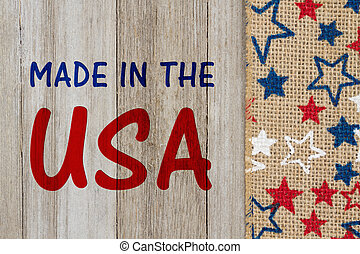 Made in the USA message