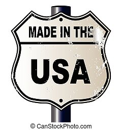 Made In The USA Route Sign