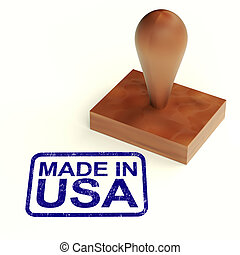 Made In The Usa Rubber Stamp Shows Products From America