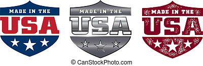 Made in the USA Shield - Three different style made in the...