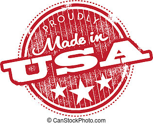 Made in the USA Stamp - Proudly made in the USA vector...