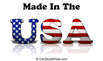 Made in the USA - The words made in the USA in the American ...