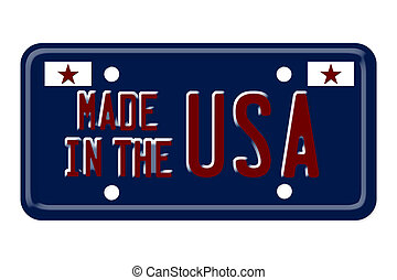 Made in the USA Vanity Plate