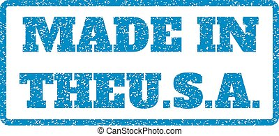 Made In Theu.S.a. Rubber Stamp