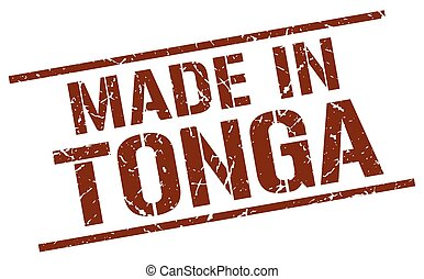 made in Tonga stamp