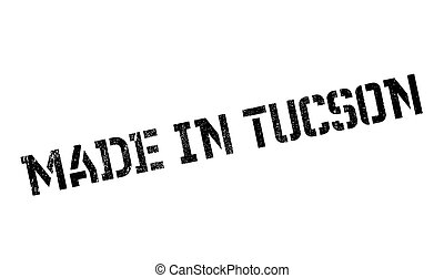 Made In Tucson rubber stamp. Grunge design with dust...