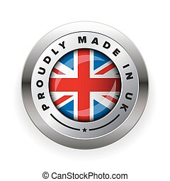 Made in UK badge vector