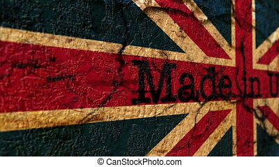 Made in UK grunge concept