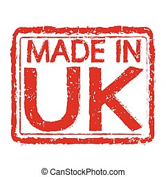 Made in UK stamp text Illustration