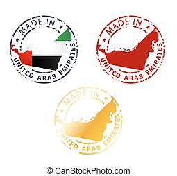 made in United Arab Emirates stamp