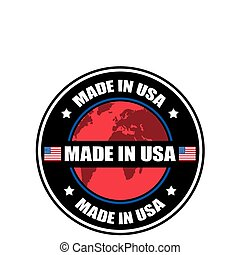 Made in United States of America - Made in USA label, vector...