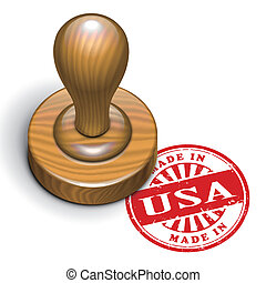 made in USA grunge rubber stamp