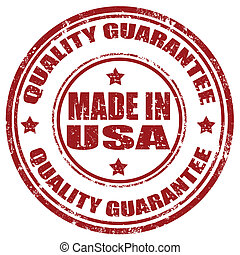Grunge rubber stamp with text Made In USA-Quality Guarantee, vector illustration