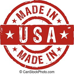 Made in USA grunge stamp vector