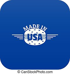 Made in USA icon blue vector