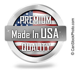 made in usa icon button design - made in usa