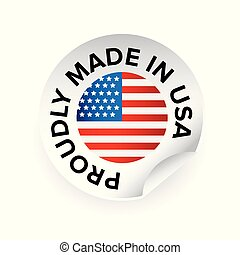 Made in USA label tag vector