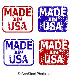 Made in usa rubber stamps collection