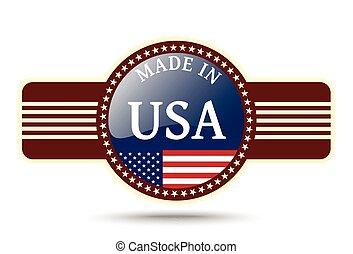 Made in USA shiny badge